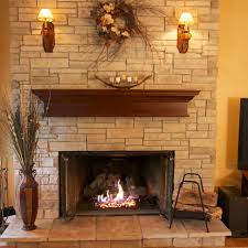 Dry Stack Stone Veneer Fireplace  Traditional  Family Room Stacked Stone Veneer Fireplace