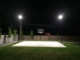 outdoor basketball court lights designs