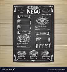 Menu Drawing Design Chalk Drawing Restaurant Menu Design
