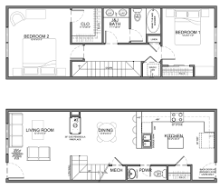 Narrow Bathroom Plans Apartment Unit Plans Residential Units Are 20 Wide Or Wider But