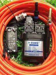MÁY RỬA XE MINI BƠM ĐÔI CỰC MẠNH KÈM NGUỒN TỔ ONG 12V-10A 10M dây chịu lực  1M dây hút lọc rác chuyển ống và còi xịt hoàn chỉnh