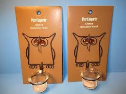 new 2 pier 1 imports owl wall sconce chandelier mural tea light candle holders
