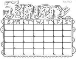 Calendar Coloring Pages Doodle Art Alley