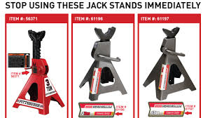harbor freight jack stands recalled for