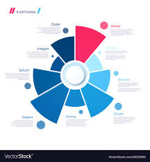 Free Pie Chart Pie Chart Concept With 9 Parts Template