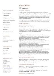 It Manager Resume Template It Management Resume Colesthecolossusco ...
