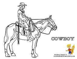 Small Picture Rideem Cowboy Coloring Free Coloring For Kids Westerns