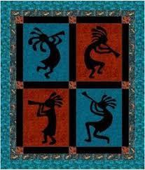 272 best Quilt: Kokopelli | SouthWest images on Pinterest ... & The Craft Connection-Kokopelli Wall/Crib Quilt Pattern Adamdwight.com