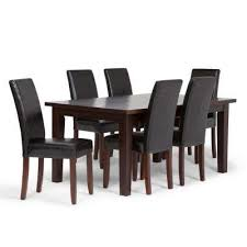 black dining room furniture sets. Acadian 7-Piece Midnight Black Dining Set Room Furniture Sets A