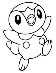 Piplup Coloring Page At Getdrawingscom Free For Personal Use