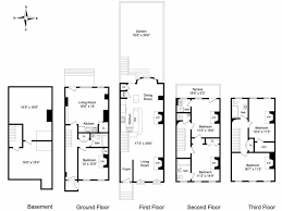 california split floor plan inspirational new york brownstone floor