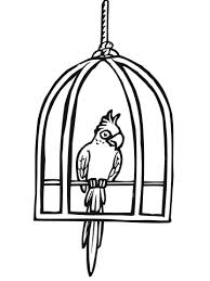 zoo cage coloring page. Interesting Coloring Parrot In A Cage Coloring Page In Zoo Coloring Page S