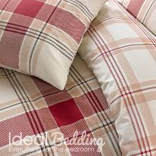 red check bo duvet set and pillowcase bedding sets