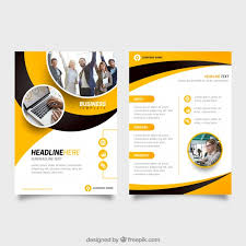 yellow and black business flyer template free vector