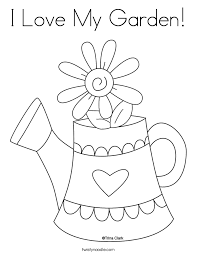 Small Picture I Love My Garden Coloring Page Twisty Noodle