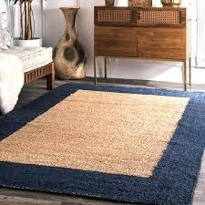 jute rug with yellow border handmade natural navy jute loomed natural fiber wide border rug jute