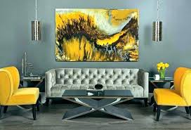 yellow and gray painting yellow grey wall decor wonderful and gray living room ideas abstract painting