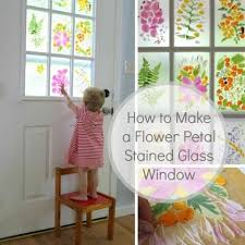 how to diy faux stained glass windows tutorial flower stained glass window tutorial