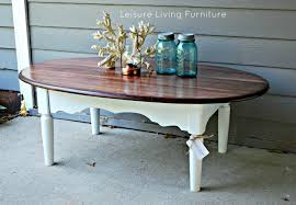 white oval cottage wooden chalk paint coffee table designs ideas