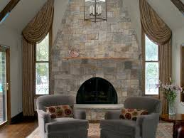 Popular of Stone Fireplace Designs Natural Stone Fireplaces Hgtv