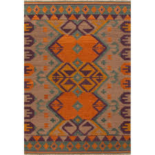 jaipur living flat weave burnt orange 5 ft x 8 ft tribal area