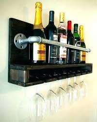 diy wine glass rack wood plans ideas wall mount