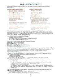 It Service Agreement Template Level Example Word Contract