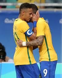 Oh 2016 Fotbal Neymar A Gabriel Barbosa Brazílie Tetování