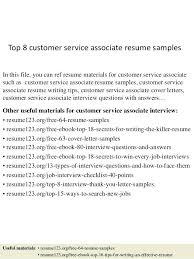sample resume for customer service associate best solutions of sample resume  for customer service associate in