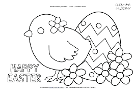 Easter Chick Coloring Pages Free Colouring Ilovezclub