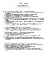 Sample Resume Retail Cover Letter For Fashion Sales Assistant Alusmdns