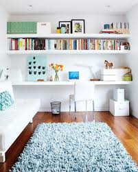 wall shelves for office. Furniture, White Floating Shelf Also Can Apply In Smart Home Office Design Installed Above Wall Shelves For