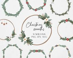 Free transparent christmas vectors and icons in svg format. Holiday Wreath Svg Etsy