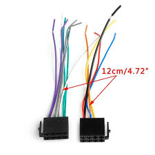 universal female iso wiring harness car radio adaptor connector wire Aftermarket Car Stereo Wiring Harness universal female iso wiring harness car radio adaptor connector wire plug kit auto car stereo system