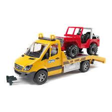 Эвакуатор <b>Mercedes</b>-<b>Benz Sprinter</b> c джипом <b>Bruder</b> (2535 ...