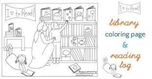 Small Picture Library Coloring Page and Summer Reading Log