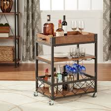 Play Kitchen From Old Furniture Amazoncom Bar Serving Carts Home Kitchen