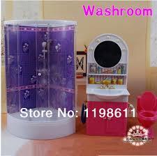 diy barbie furniture. Free Shipping Best Girls Gifts DIY Accessories Bathroom Washing Room Doll Furniture For Barbie Doll-in Dolls From Toys Diy