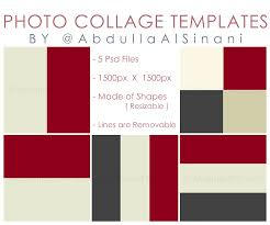 Template For Picture Collage Photo Collage Templates For Web And Instagram By Alsinania