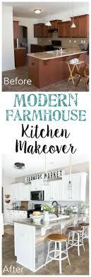 diy kitchen remodel pinterest. modern farmhouse kitchen makeover reveal diy remodel pinterest