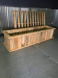 garden boxes diy pallet planter box