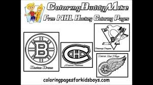 Small Picture ColoringBuddyMike NHL Hockey Coloring Pages YouTube