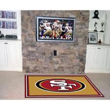 49ers Room Designs Amazon Com Nfl San Francisco 49ers 5 X 8 Rug Sports
