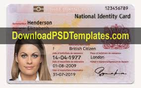 Identification Card Samples United Kingdom National Identity Card Template Uk Id Card