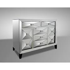 Warwick Contemporary Mirrored Dresser  Universal Gallery Furniture