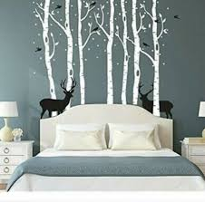 withe forest tree wall decals 3d