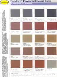 Brickform Acid Stain Color Chart 40 Ageless Brickform Color Hardener Chart