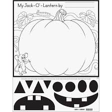 ready to decorate cut and color jack o lantern posters