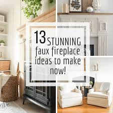 make one of these stunning diy faux fireplace ideas for your home today and enjoy it