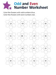 Even and Odd Numbers Worksheets for Grade 2 | Loving Printable